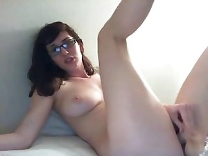Amazing Nerdy Teen Webcam Bate