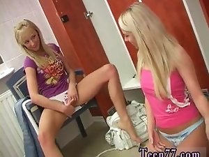 Girl teen video Young lezzies having joy in