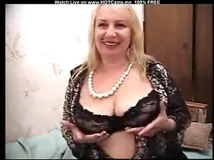 Sexy Blonde Granny With Big Boobs